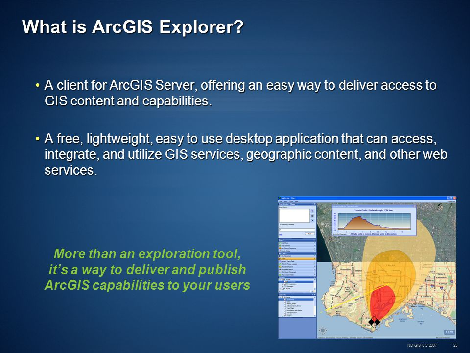 ND GIS UC 200725 What is ArcGIS Explorer.