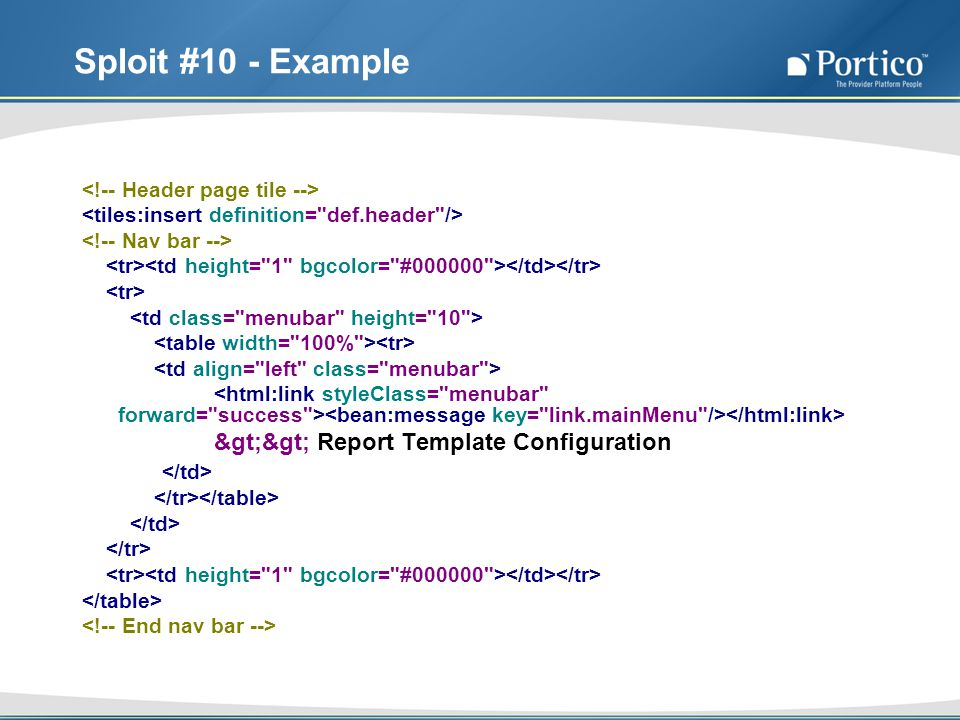 Sploit #10 - Example >> Report Template Configuration