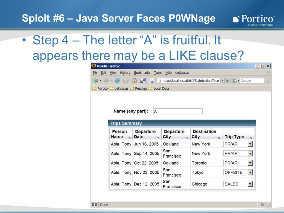 Sploit #6 – Java Server Faces P0WNage Step 4 – The letter A is fruitful.