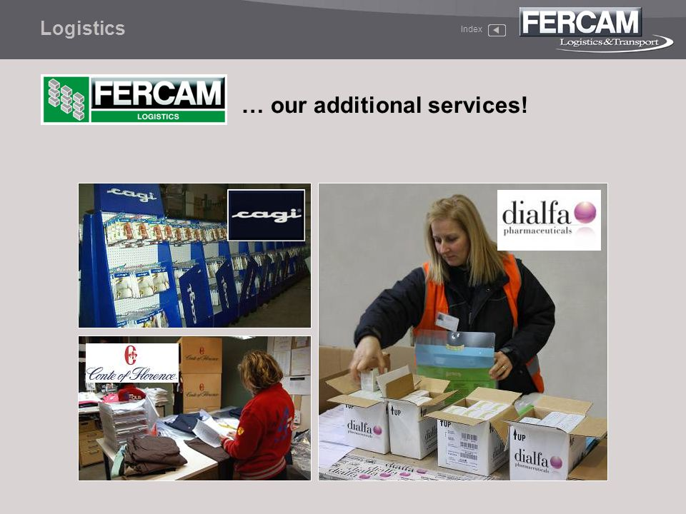 Index Logistics … our additional services!