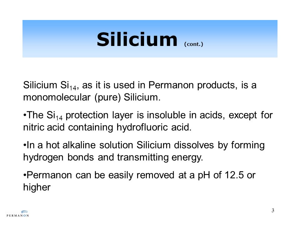 14 Coating with Silicium (cont.) For application of (cont.): Rinse to remove water carrier/excess Permanon; it can be removed with a water hose/power wash or a clean micro-fiber cloth.