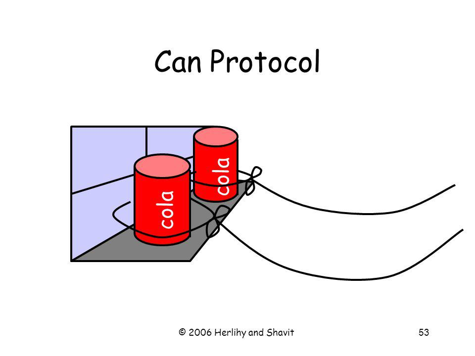 © 2006 Herlihy and Shavit53 Can Protocol cola