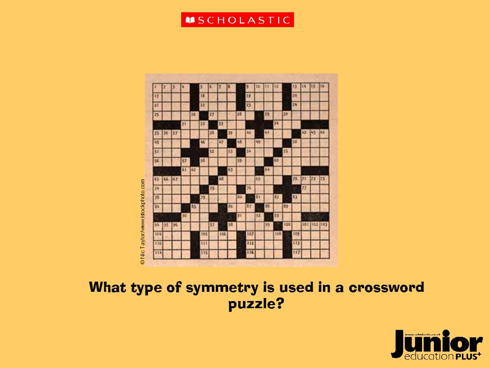 What type of symmetry is used in a crossword puzzle © Nic Taylor/www.istockphoto.com