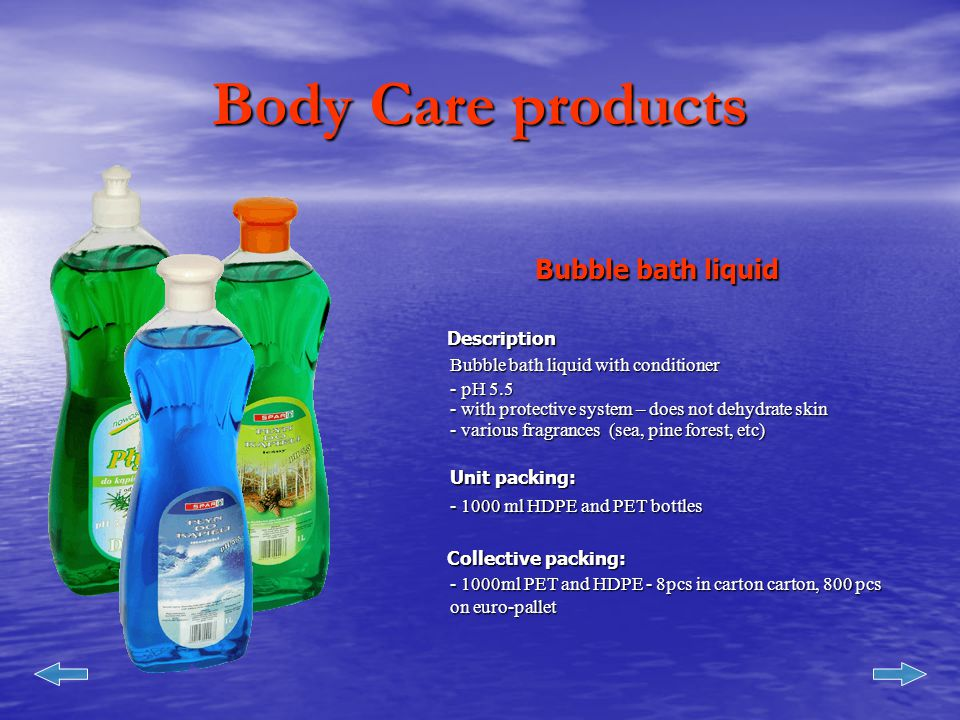 Body Care products Body Balm Description Luxury liquid soap for washing whole body.