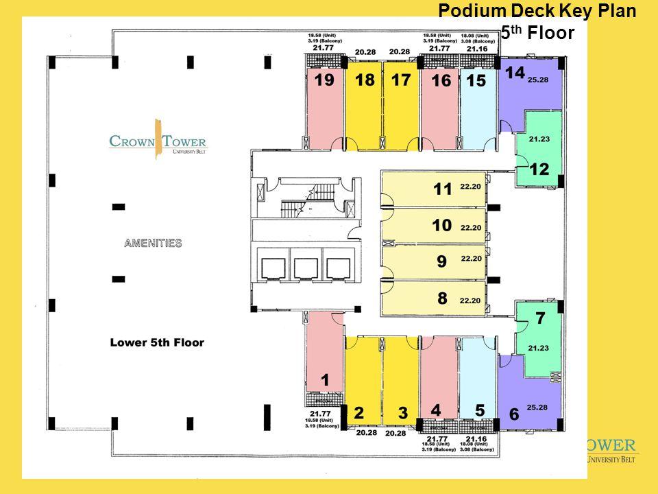 Podium Deck Key Plan 5 th Floor
