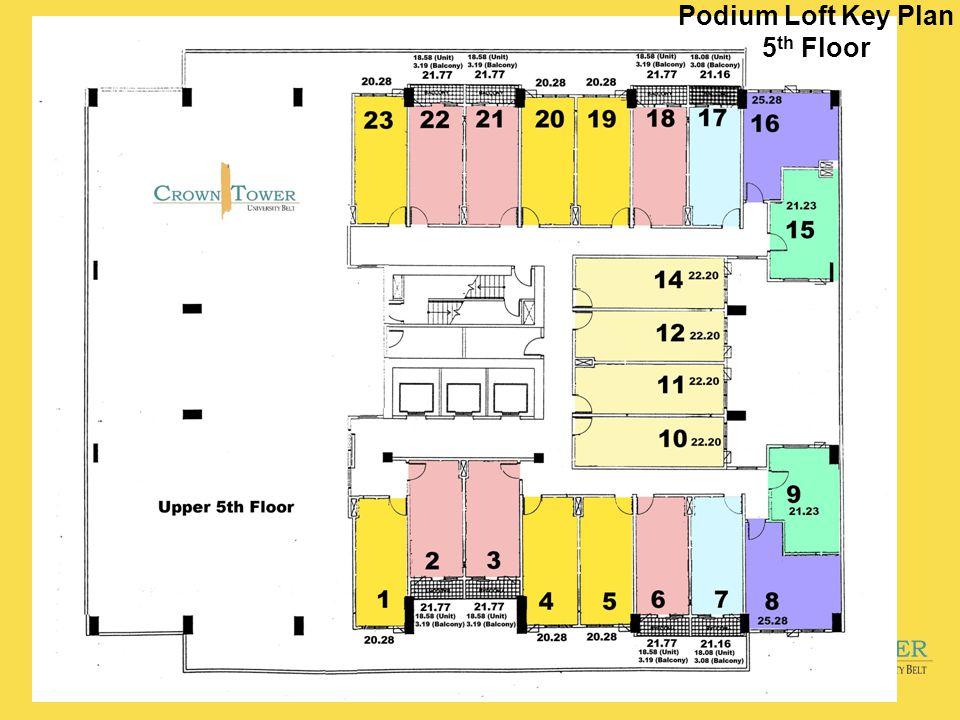Podium Loft Key Plan 5 th Floor