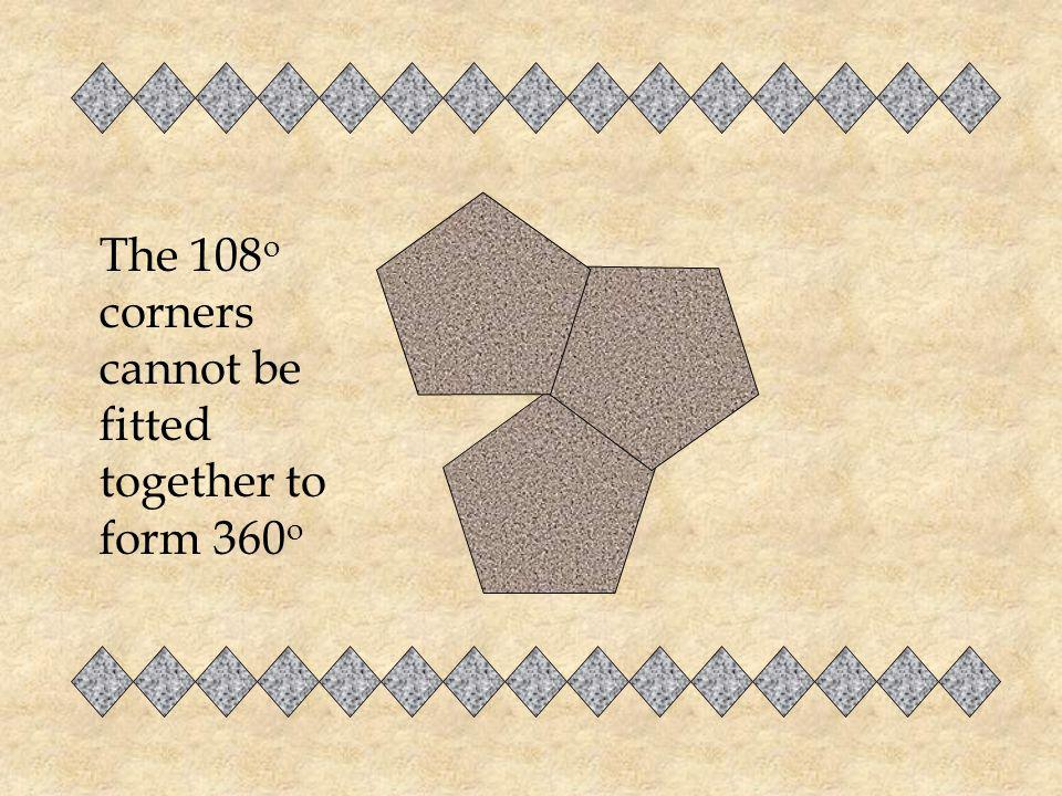 How would you show that no tessellation is possible from a regular pentagon?