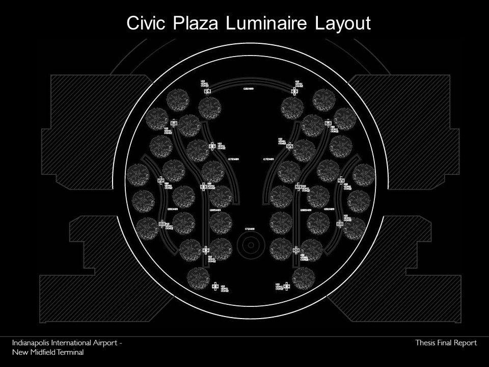 Civic Plaza Luminaire Layout