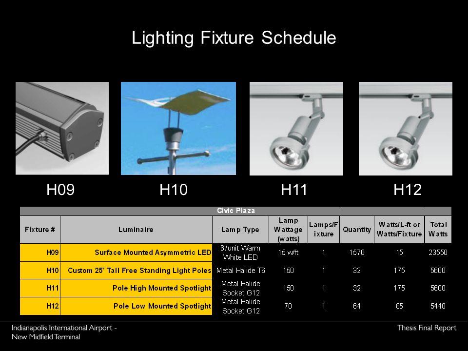 H12H11H10H09 Lighting Fixture Schedule