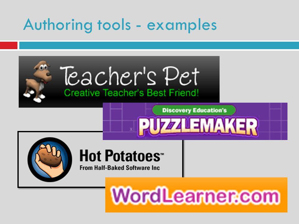 Authoring tools - examples