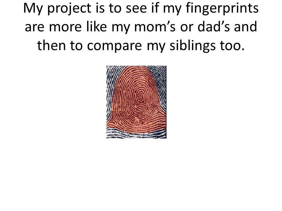 Fingerprinting the Family Male Ervin FingerprintsFemale Ervin Fingerprints
