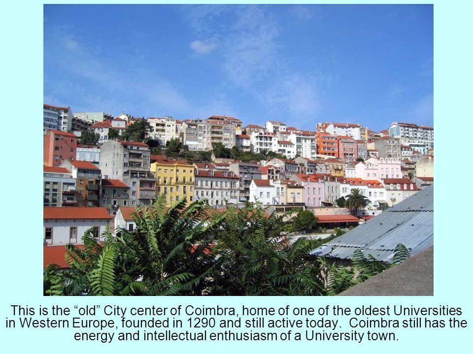 Nazare was originally located up on the Promontorio de Sitio.
