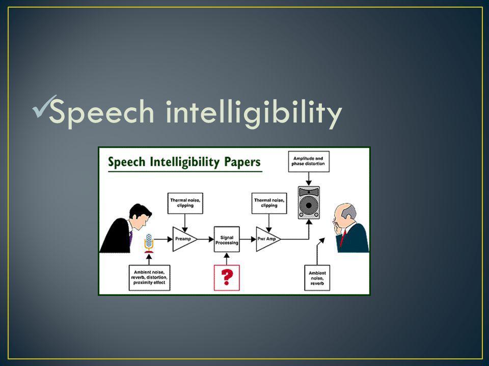 Speech privacy
