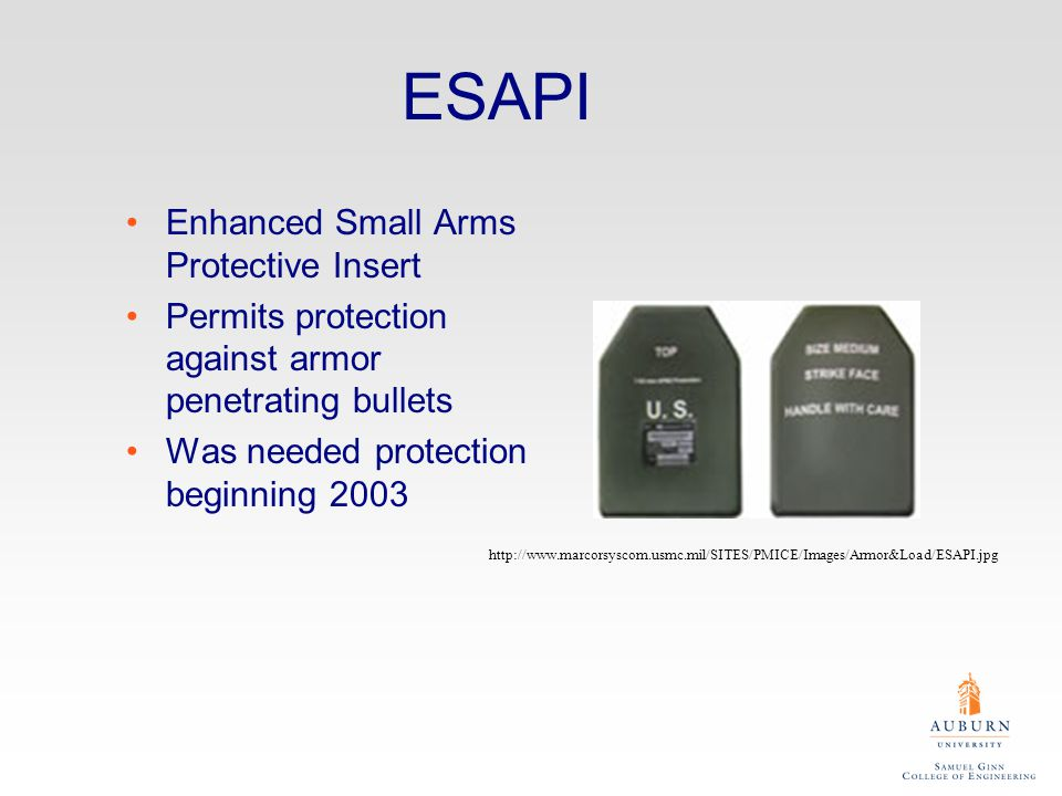 State of the Art SAPI –Small Arms Protective Insert Based on Boron or Silicon Carbide Backing made of aramid or HPPE composites http://en.wikipedia.or