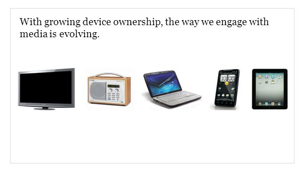 With growing device ownership, the way we engage with media is evolving.