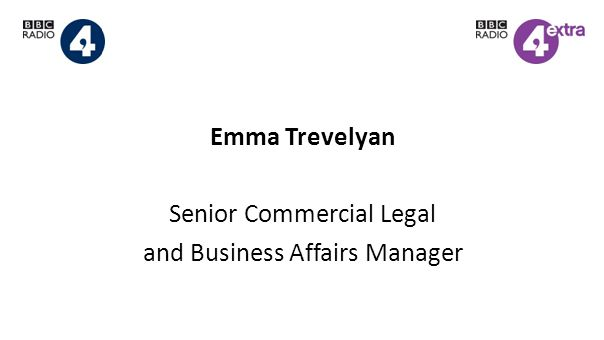 Emma Trevelyan Senior Commercial Legal and Business Affairs Manager