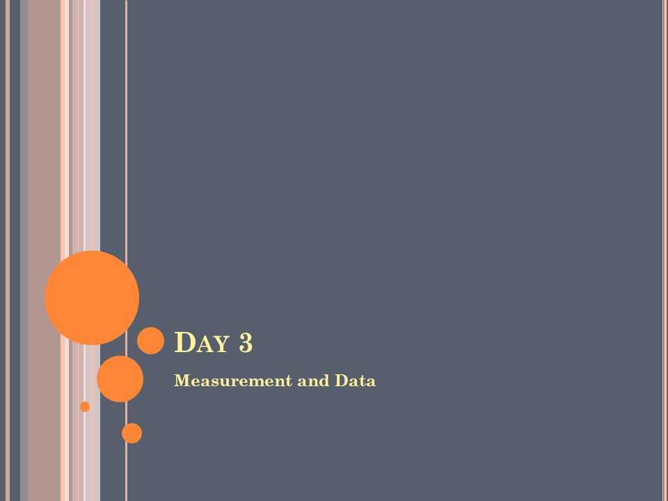 D AY 3 Measurement and Data