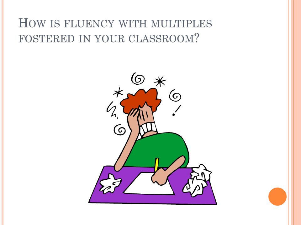 H OW IS FLUENCY WITH MULTIPLES FOSTERED IN YOUR CLASSROOM