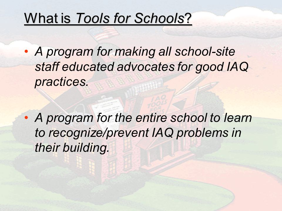 What is Tools for Schools.