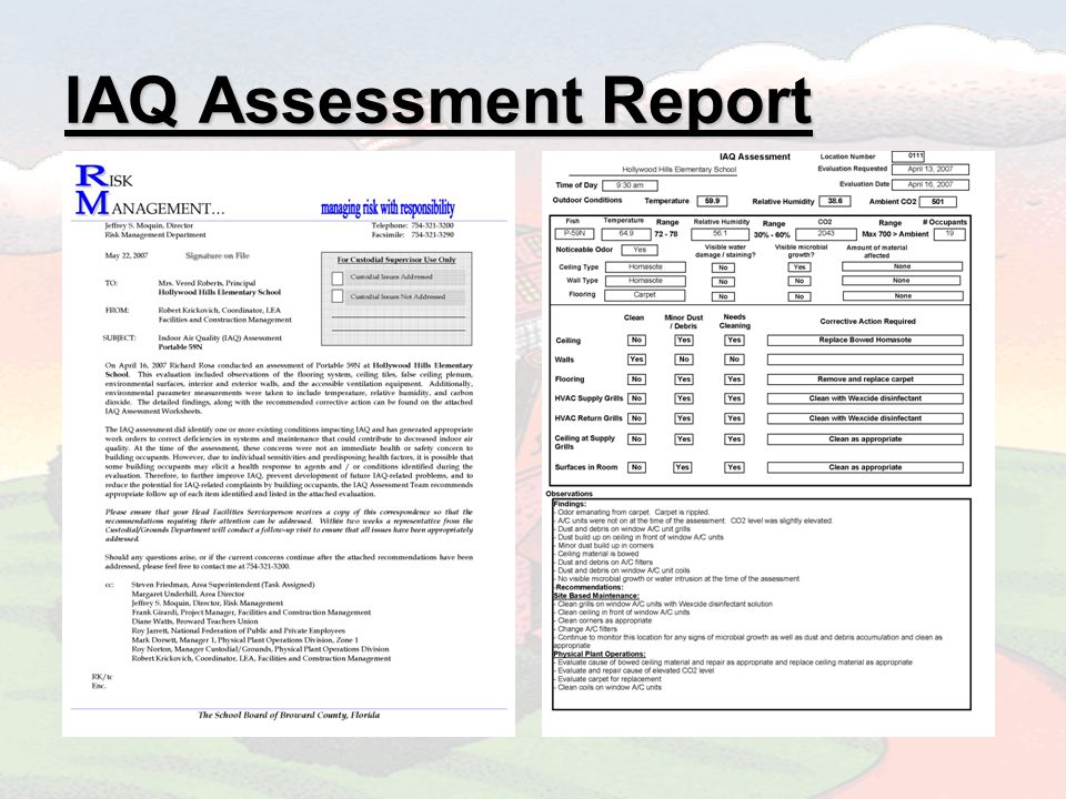 IAQ Assessment Report