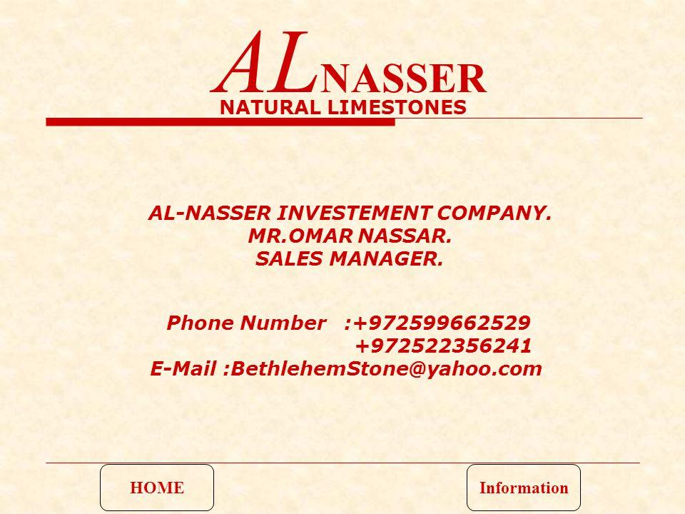 AL-NASSER INVESTEMENT COMPANY. MR.OMAR NASSAR. SALES MANAGER.