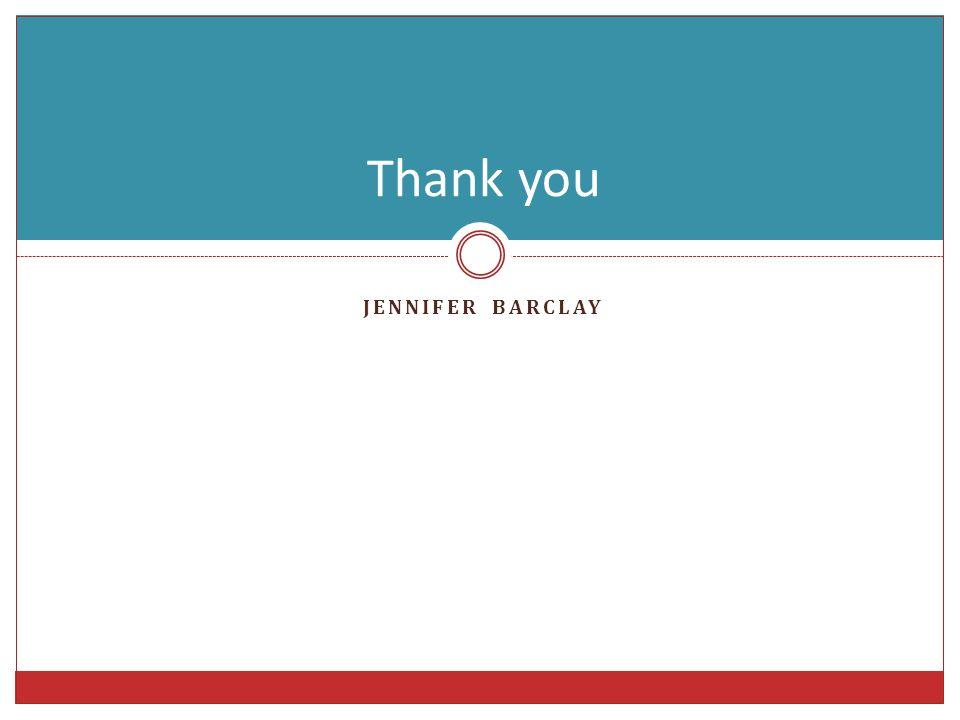 JENNIFER BARCLAY Thank you