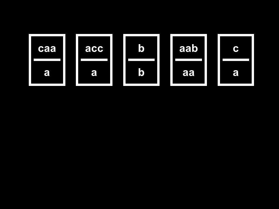 aab aa acc a b b c a caa a b b