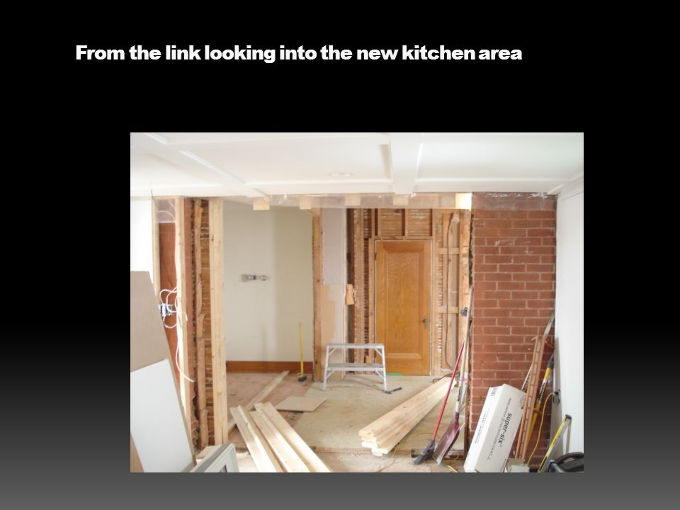 From the link looking into the new kitchen area