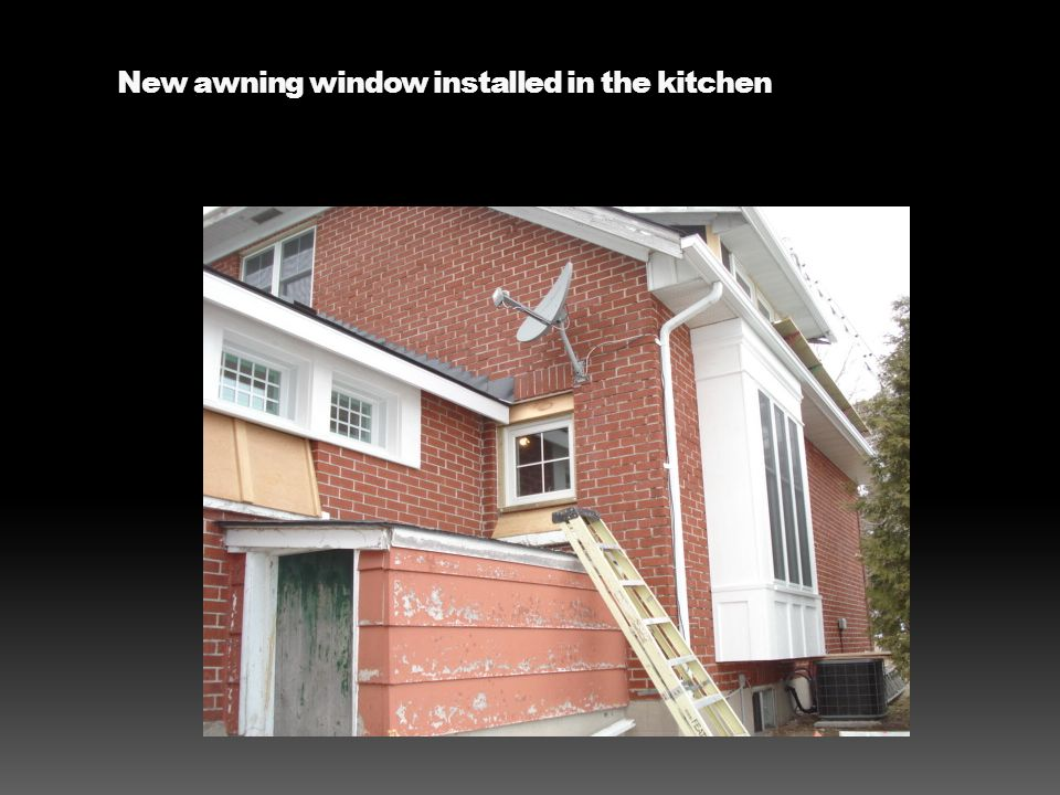 New awning window installed in the kitchen