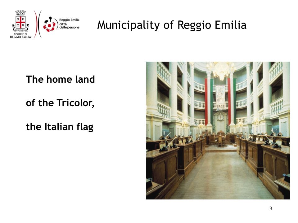 Municipality of Reggio Emilia Citys strengths: Social capital High quality of public services: education, disability, old people Voluntary associations Cooperation Policies for environmental sustainability Quality of public areas Very strong work ethics