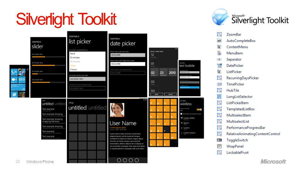 Windows Phone Silverlight Toolkit 20