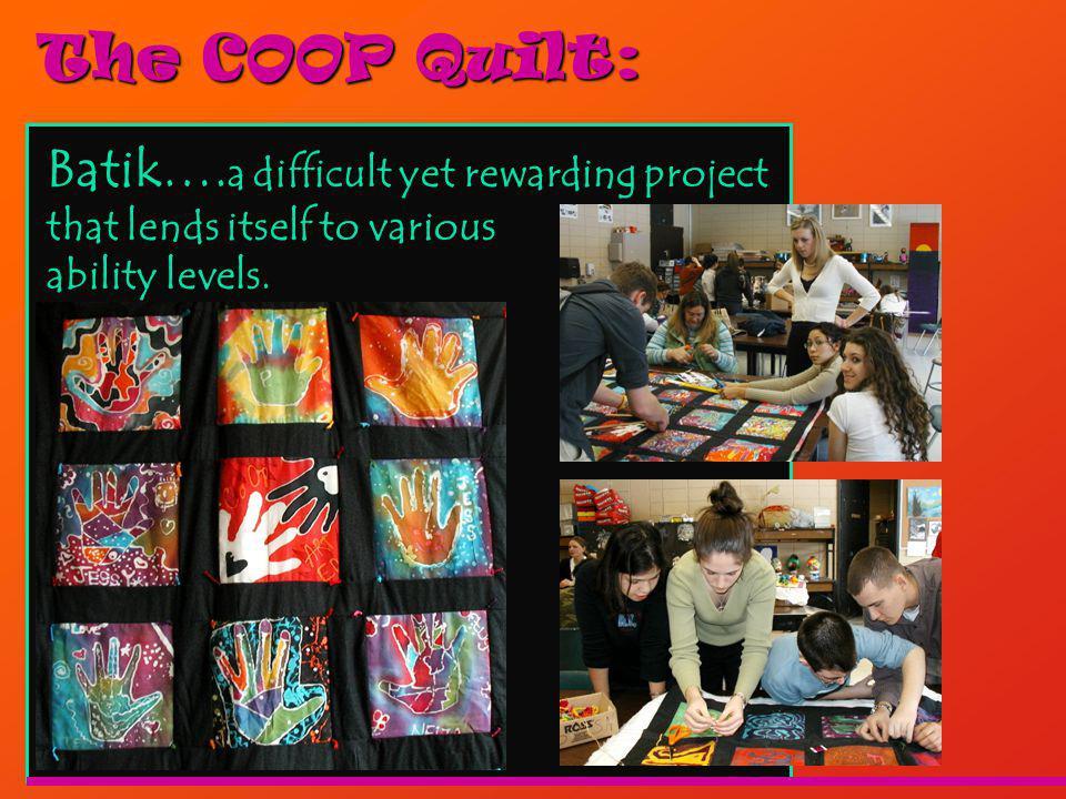 The COOP Quilt: Batik….