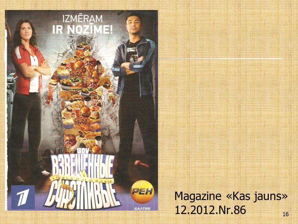 Magazine «Kas jauns» 12.2012.Nr.86 16