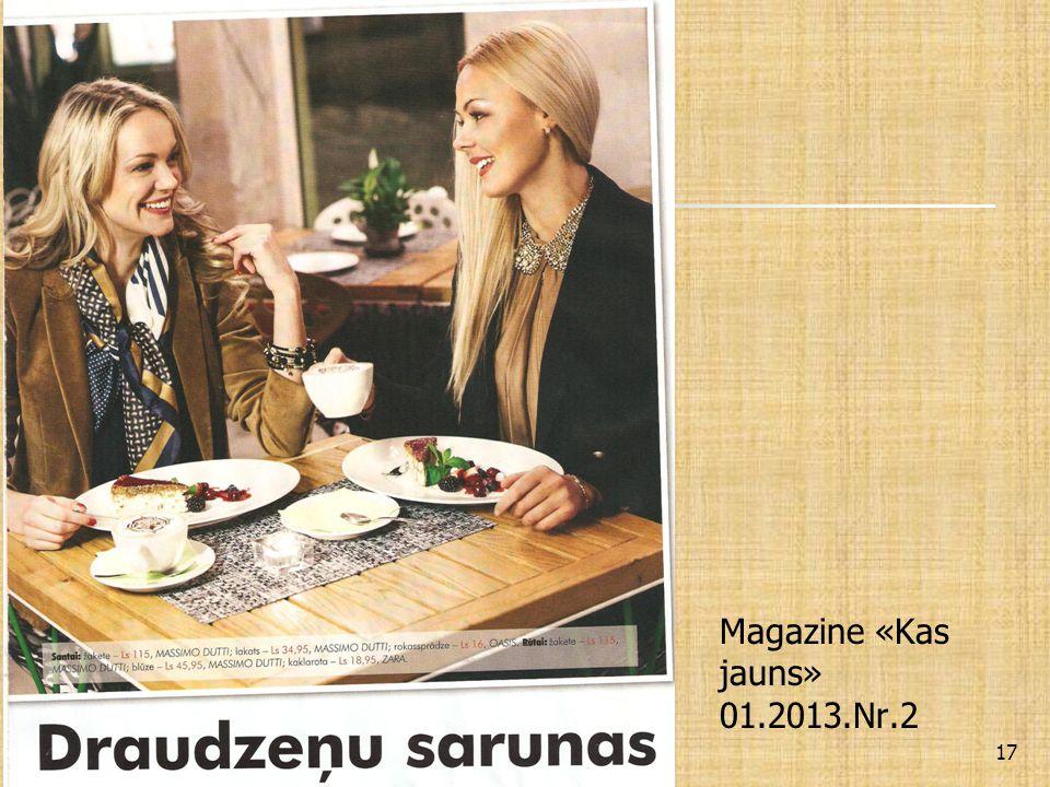 Magazine «Kas jauns» 01.2013.Nr.2 17