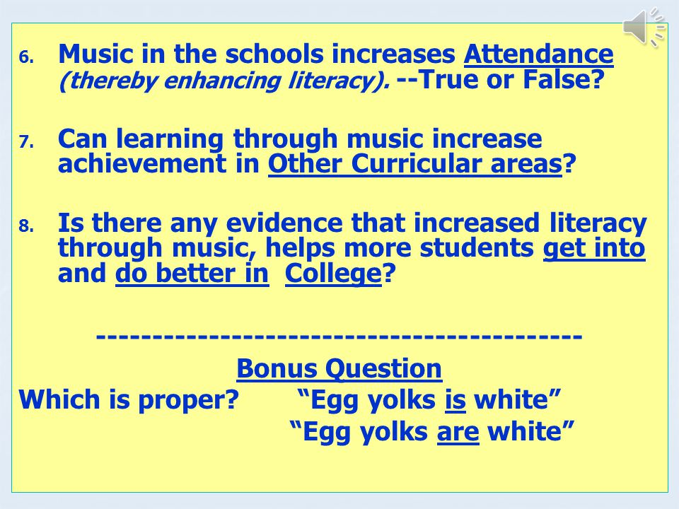 1.Visual Arts – with color transparences 2. Music – with CDs with lesson plans 3.