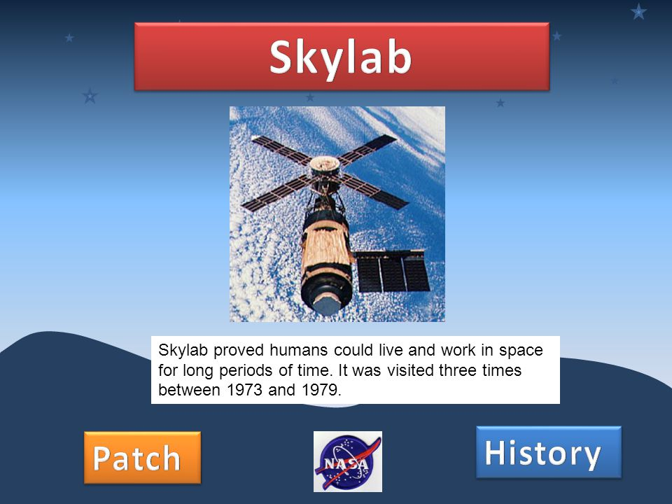 Skylab proved humans could live and work in space for long periods of time. It was visited three times between 1973 and 1979.
