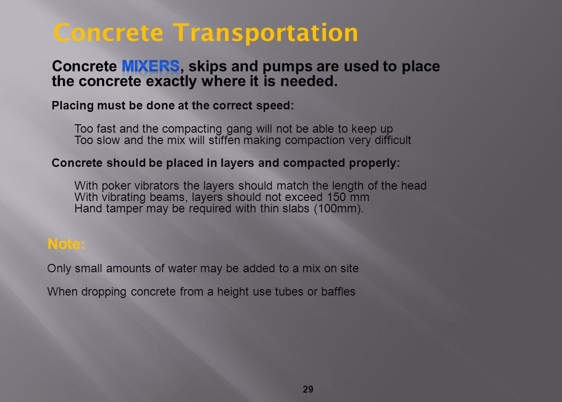 29 Concrete Transportation