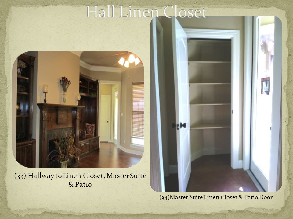 (33) Hallway to Linen Closet, Master Suite & Patio