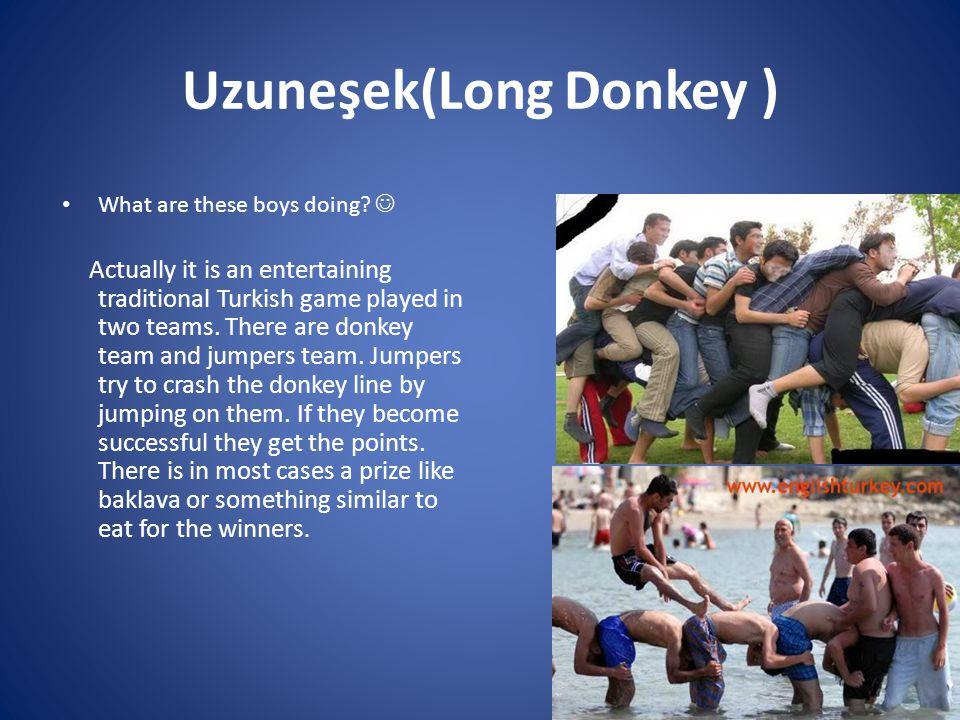 Uzuneşek(Long Donkey ) What are these boys doing.