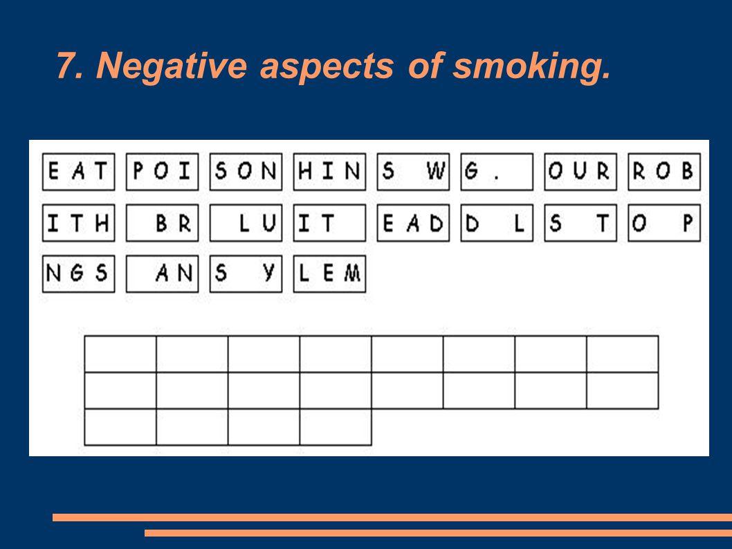 7. Negative aspects of smoking.