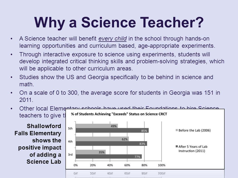 Why a Science Teacher.