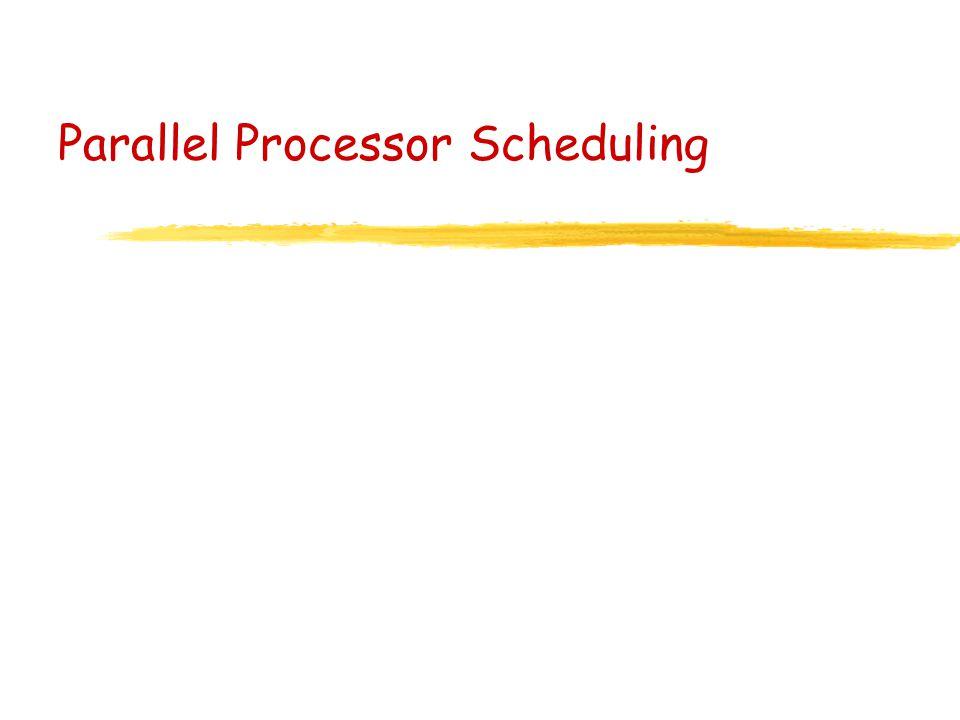 Parallel Processor Scheduling
