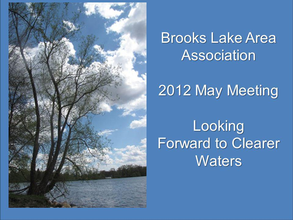 Brooks Lake Area Association 2012 May Meeting Looking Forward to Clearer Waters