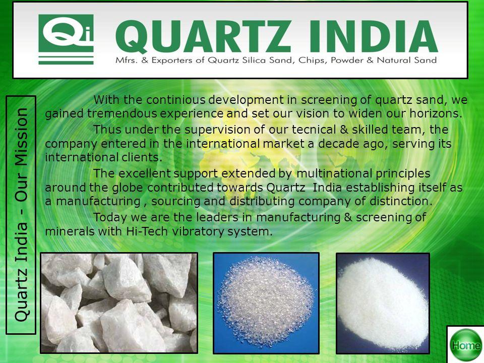 Quartz India – Our Premises Factory EntranceAdministrative Office Factory GodownFinance Dept.