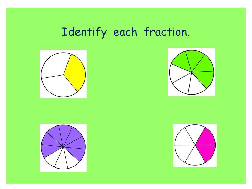 Identify each fraction.