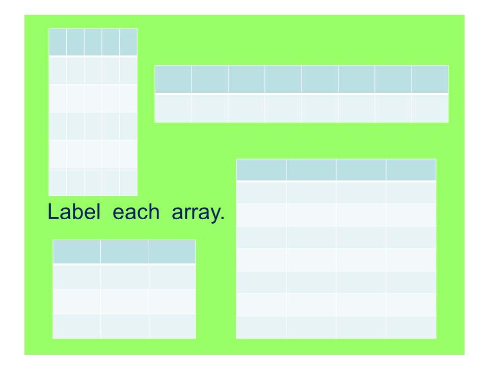 Label each array.
