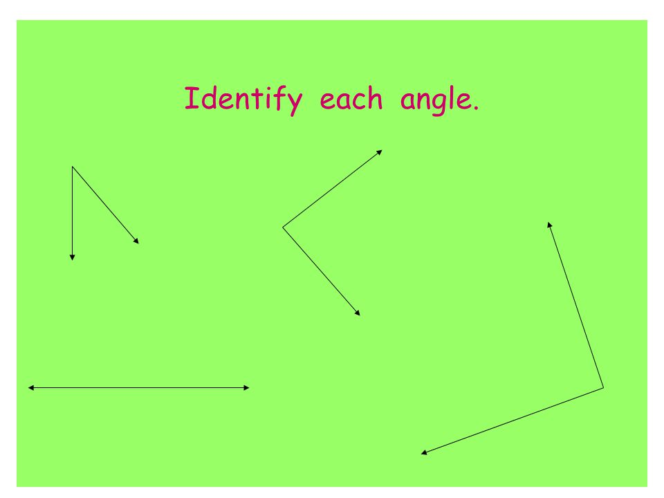 Identify each angle.