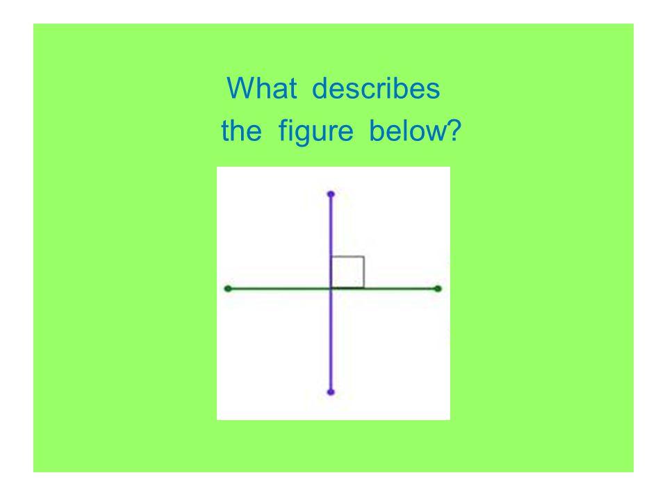 What describes the figure below?