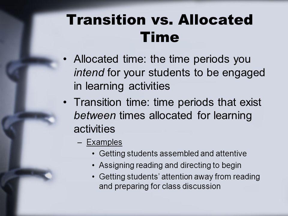 Transition vs.